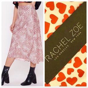 Rachel Zoe Valentine's Day Heart Skirt M & L NWT